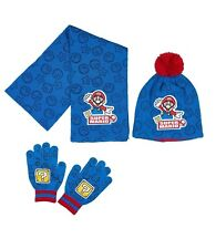 Boys Kids Children Super Mario Hat Scarf and Gloves Set age 3 - 9 years 52 6b92fac8def1