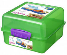 Sistema Green 3 Compartment Klip It 1.4L Lunch Cube Box Container
