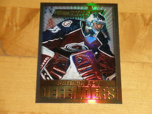 1995-96 Topps Finest Defenders Rare Gold Refractor #13 Patrick Roy