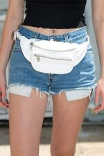 brandy melville white faux leather fanny pack NWT one size