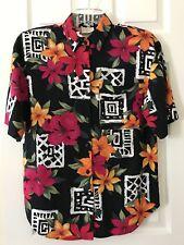 Bobbie Brooks Women's Short Sleeves Floral Button Down Shirt Size 8/10