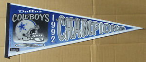 1992 DALLAS COWBOYS SUPER BOWL XXVII CHAMPIONS Pennant