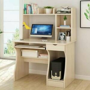 Computer Desk Desktop PC Table Home Office Laboratory  With Drawer Bookshelves