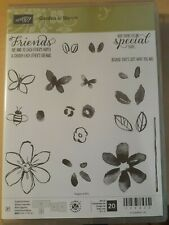 Stampin Up GARDEN IN BLOOM Flowers Butterflies Bumble Bee Leaves Friends Special