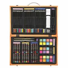 Darice 80-Piece Deluxe Art Set – Art Supplies for Drawing, Painting and More