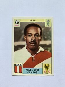 Original Panini Mexico 70 1970 Angel Eloy Campos Peru Unused. One Of The Rare 80