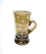 pichet en verre chope à bière avec proverbe FRITZ HECKERT um 1890