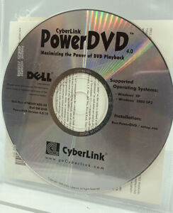 CYBERLINK POWERDVD VER 4.0 DVD PLAYBACK SOFTWARE DISK WINDOWS XP & 2000 SEALED