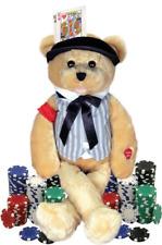 """Chantilly Lane G1197 Musical Bear """" Sings The Gambler Song"""