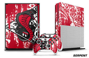 Designer Skin for XBOX ONE S 1S Gaming Console+2 Controller Sticker Decal SERPNT