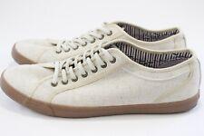 Ben Sherman Beige Mens Casual Canvas Boat Shoes Size 11.5 US 44.5 EUR