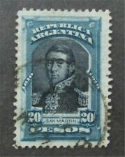 nystamps Argentina Stamp # 175 Used $100