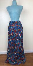 LuLaRoe Womens 2XL Blue Floral Deanne Pleated Wrap Skirt