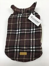 New listing Kuoser Dog Jacket Waterproof Windproof Maroon Plaid Vest, Small, New With Tags