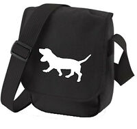 Basset Hound Gift Pack Shoulder Bag & Wallet dog Birthday Gift Dog Walkers Bag