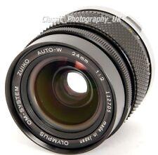 Olympus OM Sistema ZUIKO AUTO-W 1:2 F = 24mm/24mm F2 Rápido Lente Ultra Gran Angular