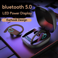 Bluetooth 5.0 Headset TWS Wireless Earphones LED Stereo Super Bass Headphone