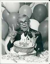 1978 George Burns Celebrates 100, a Little Too Soon Original News Service Photo