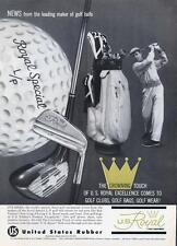 1962 U.S. Royal PRINT AD Vintage Golf Ball & Bags, Clubs features Ken Venturi