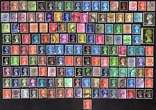 150 All Different  GREAT BRITAIN DECIMAL MACHIN  STAMPS