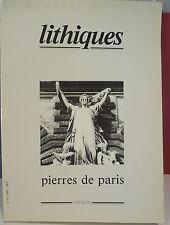 Lithiques, Pierres de Paris N° 4, archéologie, pierre… World FREE Shipping*