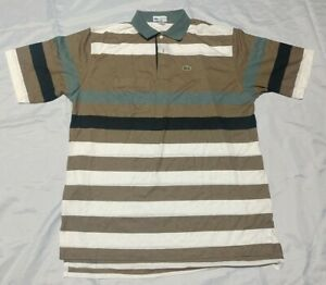 Lacoste Club Men's XL Stripe Pocket SS Polo Shirt *Read*