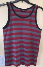 Vans Off The Wall Tank Top Red And Gray Stripes Men's Medium