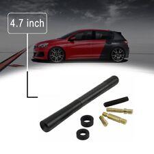 """4.7"""" Universal Black Carbon Fiber Screw Aluminum Car FM/AM Radio Aerial Antenna"""