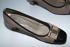 France Chaussures Paris Exklusive Pumps im CC Stil Gr  36 Beige Schwarz