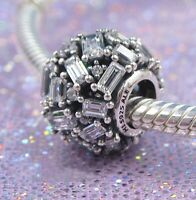 Authentic Pandora Charm 797746 Silver925 Chiselled Elegance Clear Bead