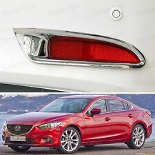 Chrome Rear Fog Lamps Light Frame Cover Trim Fit for Mazda 6 Atenza 2013-2015