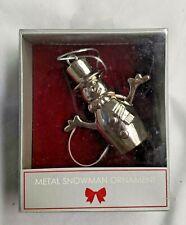 Metal Snowman Christmas Ornament