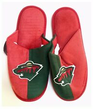 Minnesota Wild NHL Ice Hockey Dual Colour Logo Slippers : Medium