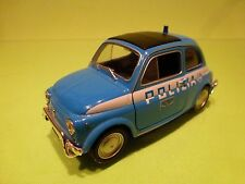 WELLY 43606 FIAT NUOVA 500 POLIZIA STRADALE POLICE - GOOD CONDITION - FRICTION