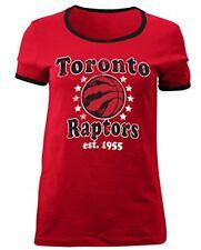 NBA Toronto Raptors 5th & Ocean Ladies Baby Jersey Short sleeve Ringer Tee, XL
