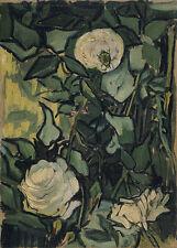 Roses Vincent van Gogh Blüte Käfer Pflanzen Strauch Insekt Blätter B A3 03378