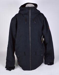 NWT MENS QUIKSILVER INSULATED DRIFT JACKET $130 XL Black Internal Pocket