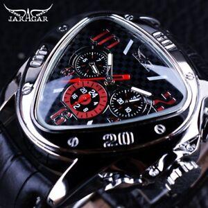 JARAGAR Luxury Sport Design Geometric Triangle Men's Mechanical Automatic Watch