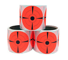 """3-pack of 3"""" Inch Round Fluorescent Target Pasters Shooting Targets Bulk Pack"""