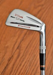 All Orig RH Wilson Staff Dynapower 69 Bulletback Irons 2-PW Stiff Leather Mint!