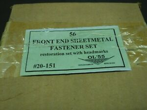 1956 Chevrolet 150,210,& Belair Front End Sheet Metal Fastener Kit Ol'55 #20-151