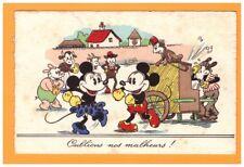 DANSE de MICKEY avec ORGUE de BARBARIE & SINGE dressé / illustrée WALT DISNEY