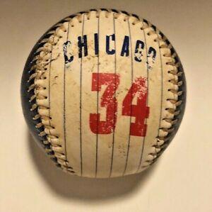 CHICAGO CUBS Official MLB FAN Baseball WOOD 34 SOUVENIR BALL
