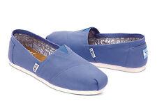 TOMS REGATTA BLUE CANVAS WOMEN'S CLASSICS SHOES. Style # 10008064