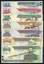Dominican Republic - Set/7 Speciman 10 thru 2000 Peso Oro Notes - 2002