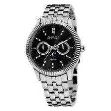 Men's August Steiner AS8050 Multifunction Date Day Moon Phase Diamond Watch