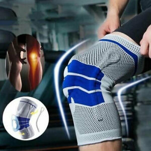 Knee Support Brace Strap Compression Sleeve Sports Silicone Protector Adjustable