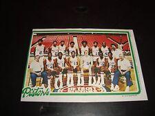 1980 Topps Detroit Pistons #5 Team Photos / Pin-Up NM Condition NBA Basketball