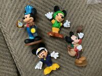 Disney Character Figures Lot Of 4 Mickey Mouse Used Free Shipping