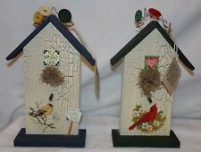 Birdhouse Bird House Plaque Decorations 2 pcs Womacks Collectibles Chic Country